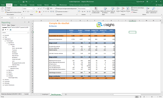 Reporting web et Excel avec OfficeConnect